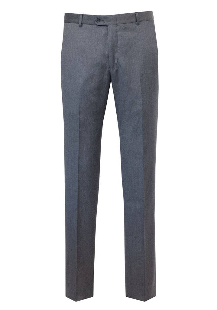 Grey Wool Flat Front Rain System Trousers