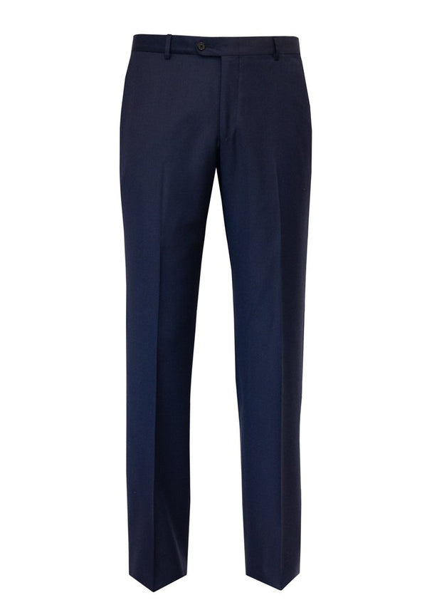 Bright Blue Wool Flat Front Trousers