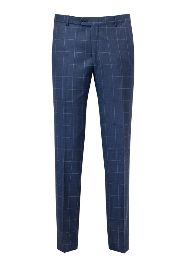 Blue Birdseye Windowpane Infinity Suit