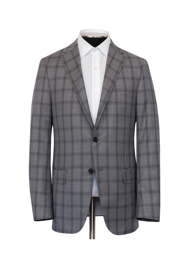 Grey Sharkskin Plaid Infinity Suit