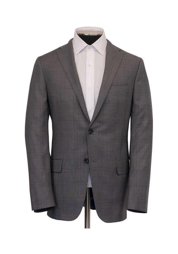 Grey Plaid Four Seasons Suit