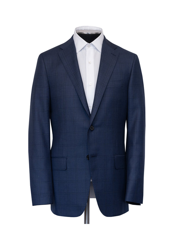 Blue Birdseye Windowpane Tasmanian Suit