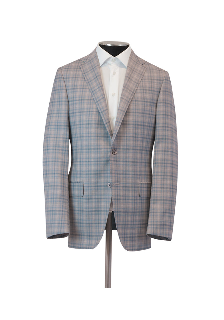 Light Grey Check Infinity Jacket