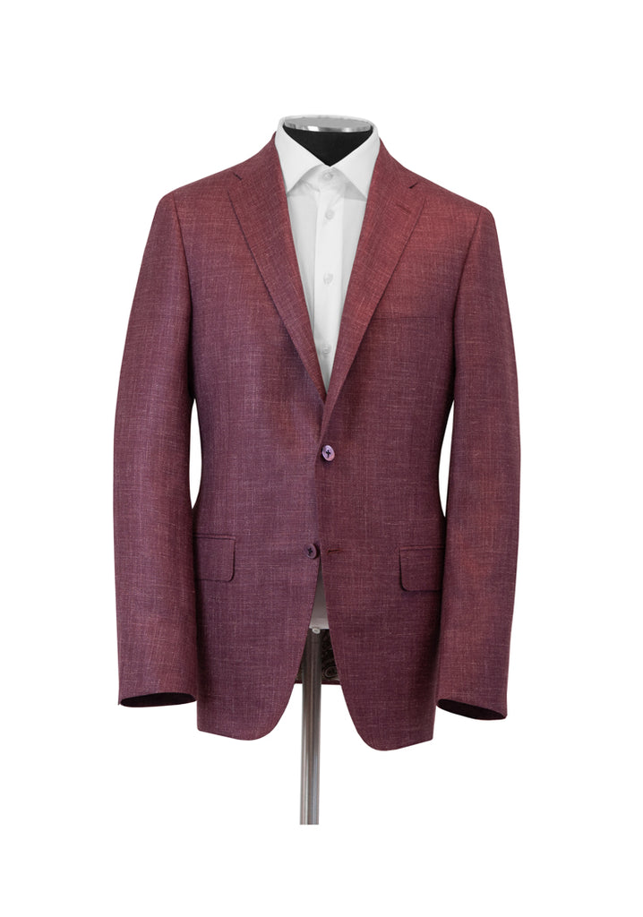 Berry Silk Cashmere Linen Jacket