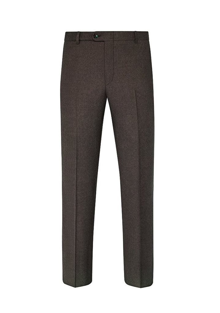 Hickory Brown Infinity Flannel Trousers