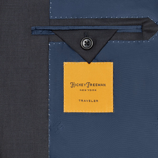 Hickey Freeman Navy Traveler Blazer Interior