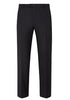 Black Traveler Wool Flat-Front Trousers