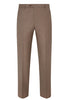 Tan Traveler Wool Flat-Front Trousers