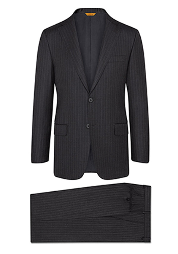 Charcoal Stripe Tasmanian Suit: A Fit