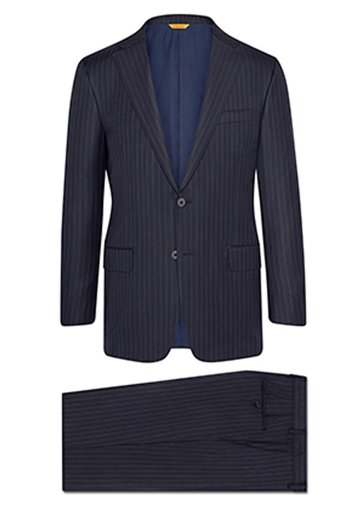 Navy Stripe Tasmanian Suit: A Fit