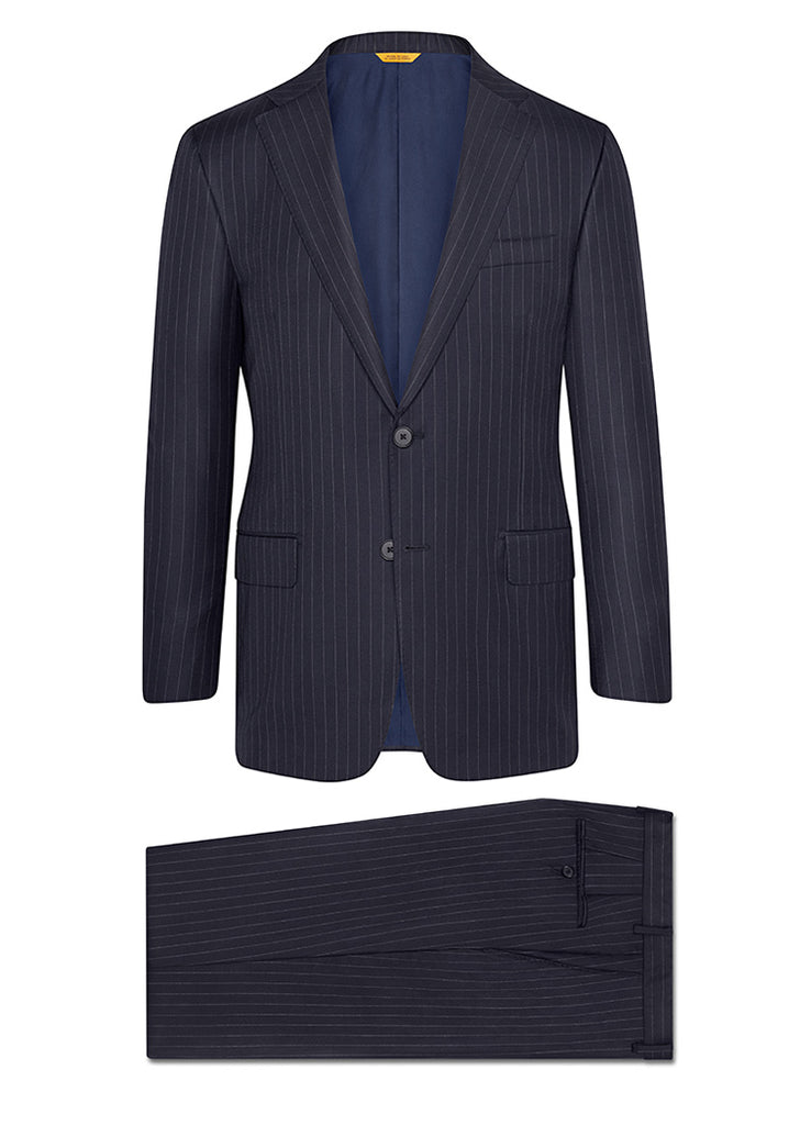 Navy Stripe Tasmanian Suit: B Fit