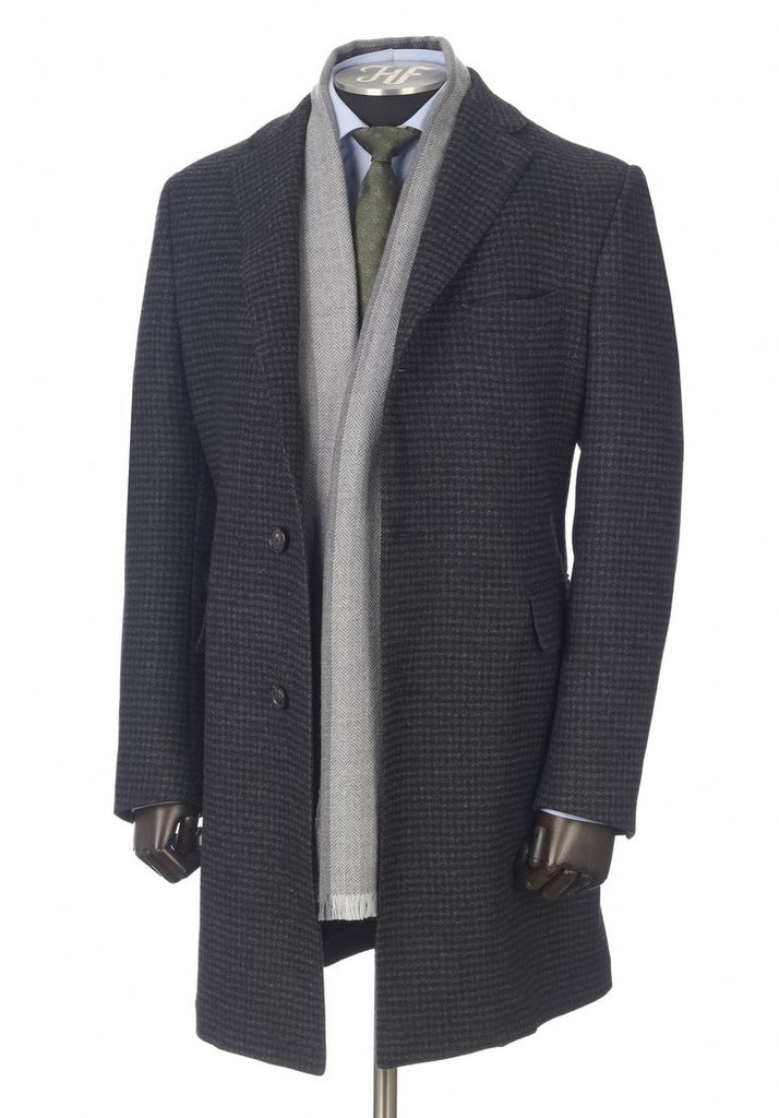 Charcoal Double Faced Zelander Overcoat