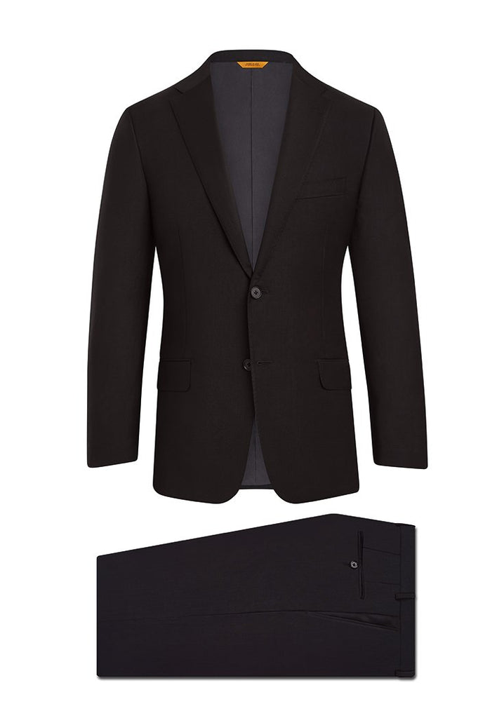 Black Tasmanian Super 150s Suit: B Fit