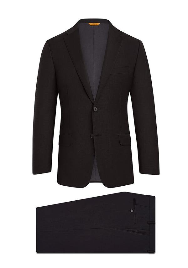 Black Tasmanian Super 150s Suit: H Fit