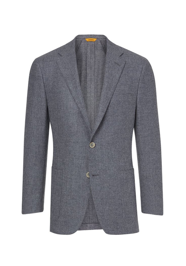 Grey Washed Wool Noble Fibers Jacket