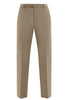 Tan Sharkskin Tasmanian Trousers