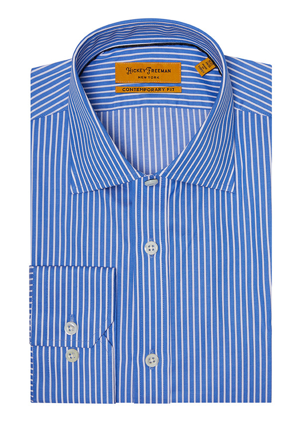 Cobalt Stripe Dress Shirt