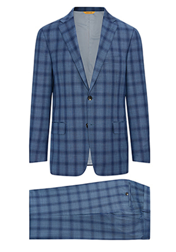Blue Plaid Traveler Suit
