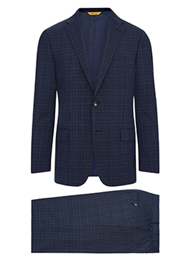 Navy Check Traveler Suit