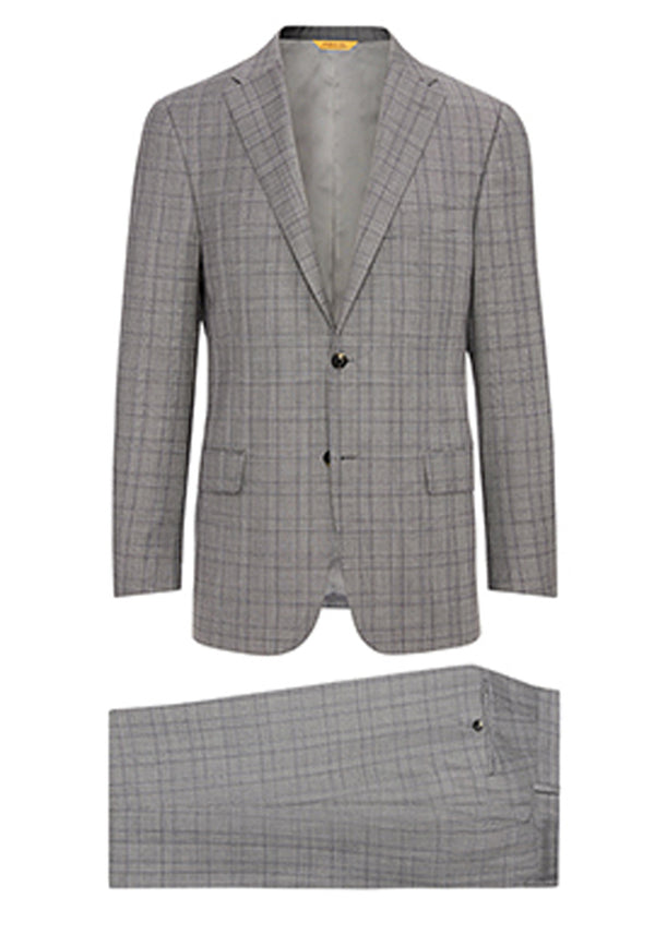 Grey Plaid Rain System Suit