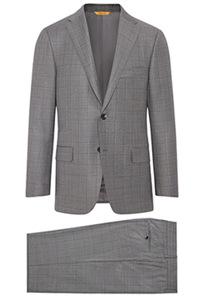 Grey Birdseye Windowpane Tasmanian Suit
