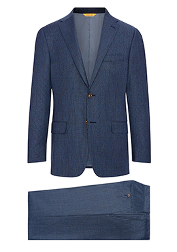 Blue Basketweave Tasmanian Suit