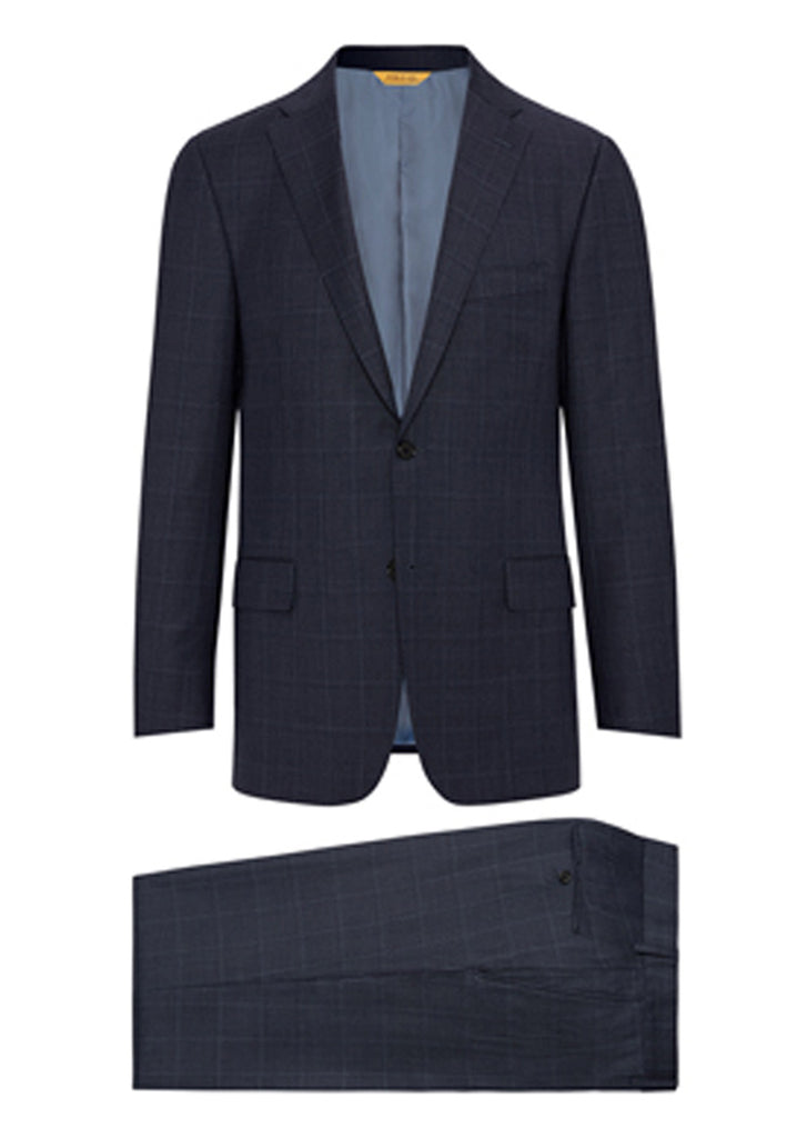 Slate Blue Plaid Tasmanian Suit