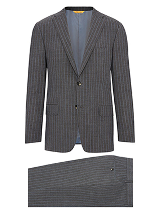 Grey Blue Doublestripe Tasmanian Travel Suit