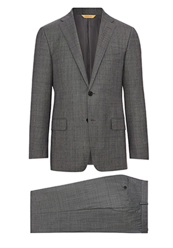 Grey Sharkskin Windowpane Super 160's Suit