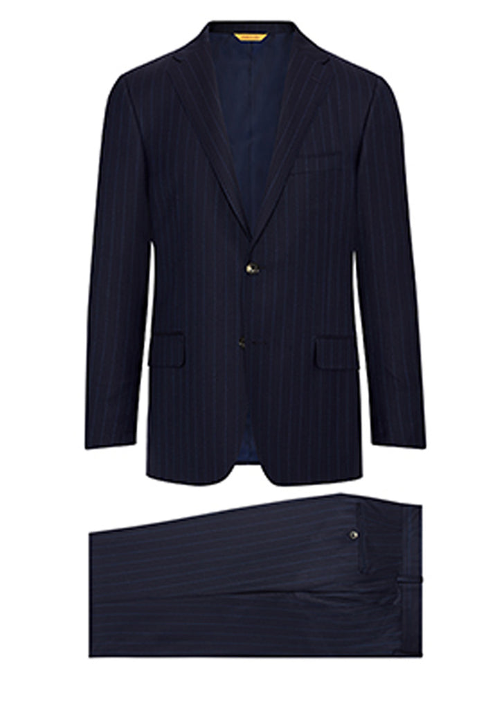 Navy Blue Widestripe Super 160's Suit