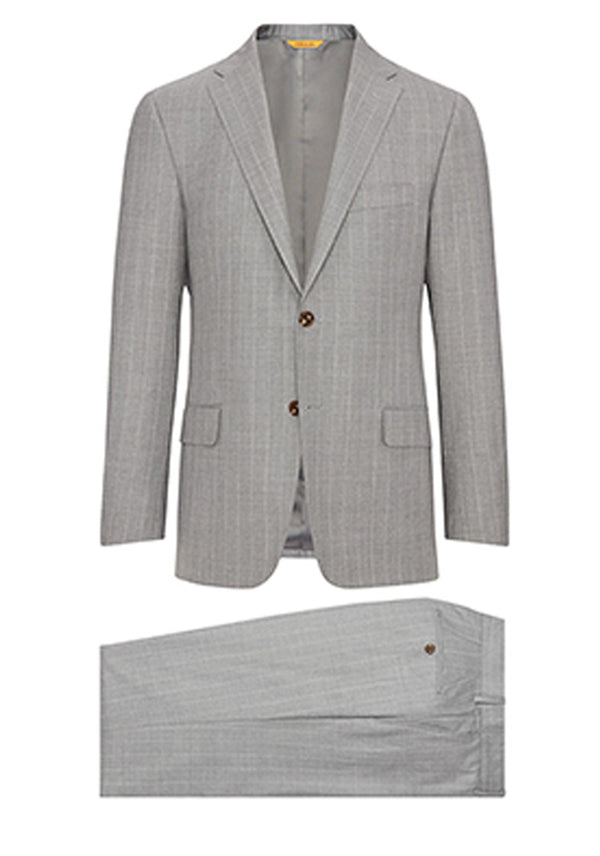 Grey Widestripe Super 160's Suit