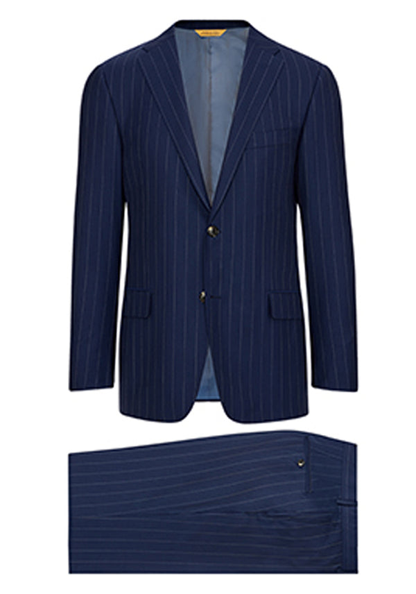 Navy Widestripe Super 160's Suit