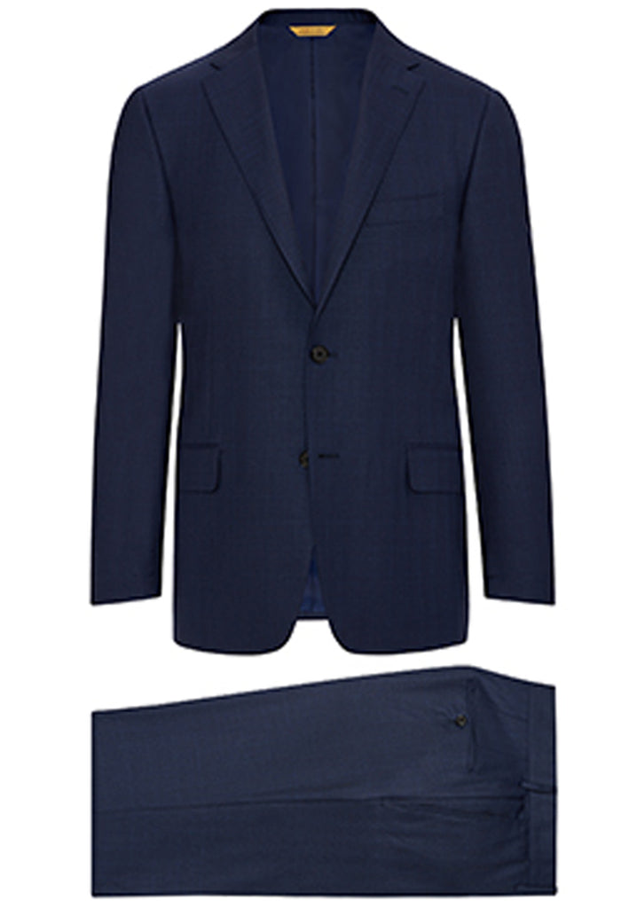 Navy Tonal Plaid Super 160's Suit