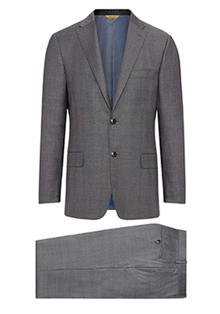 Grey Plaid Summer Silk Wish Suit