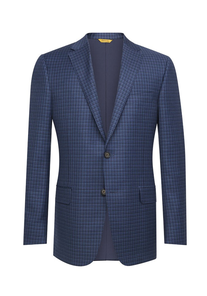 Dark Blue Check Traveler Jacket