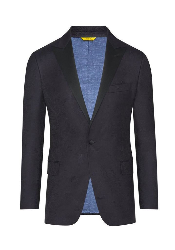 Navy Floral Jacquard Dinner Jacket