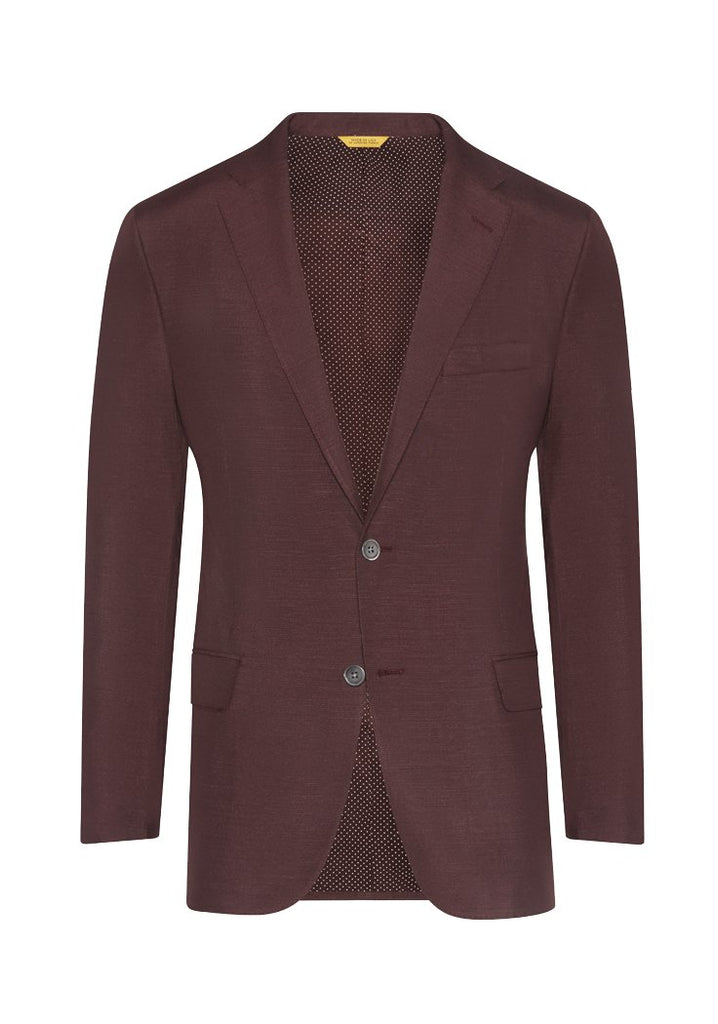 Burgundy Dupioni Silk Jacket