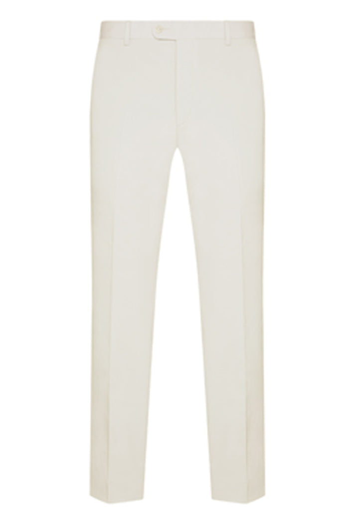 White Cotton Stretch Trouser