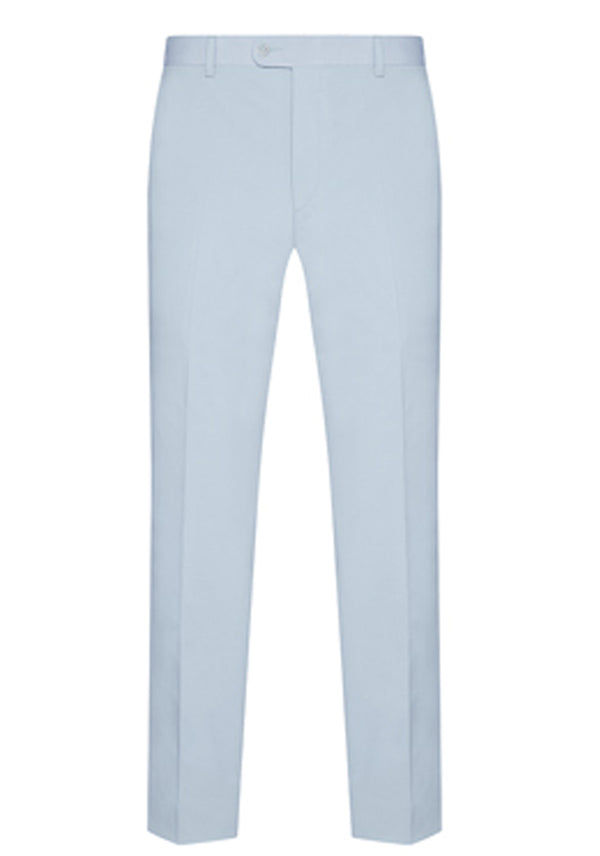 Light Blue Cotton Stretch Trouser