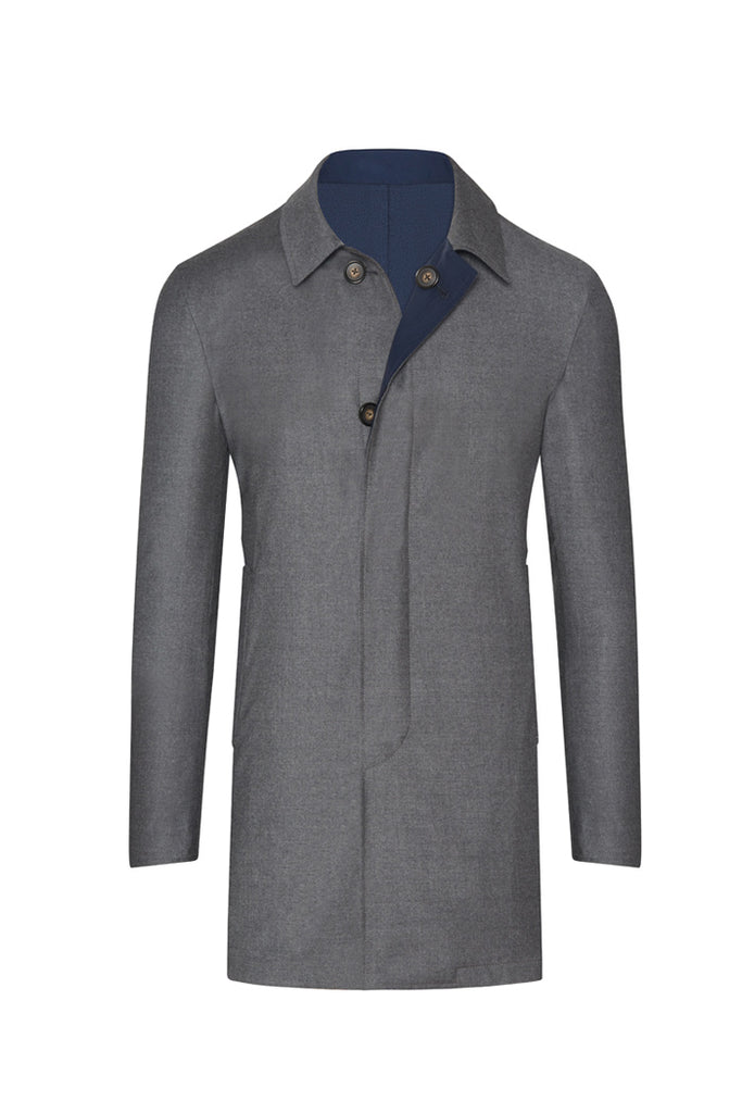 Reversible Grey/Navy Storm System Overcoat