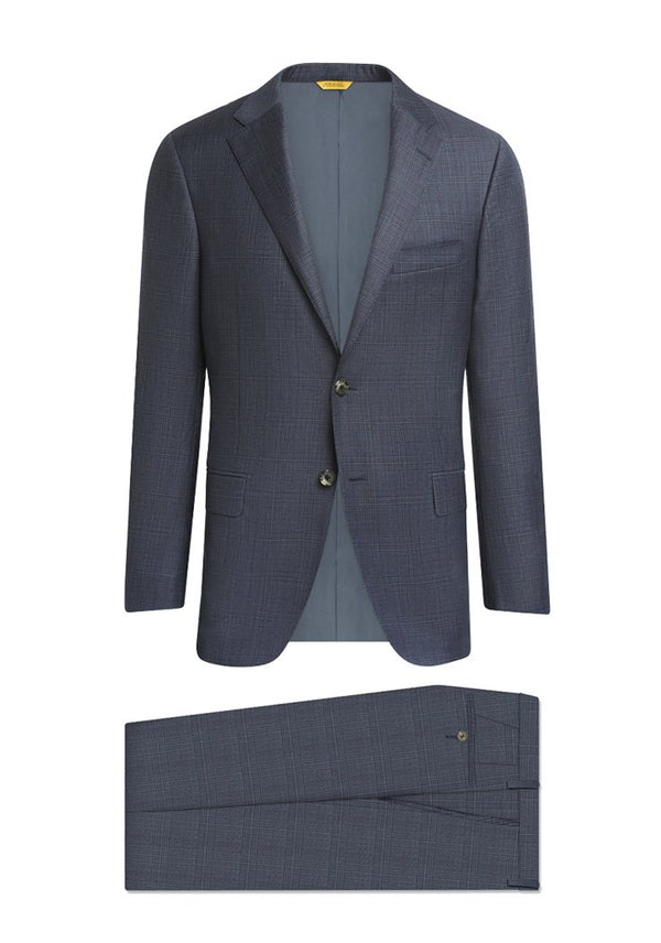 Slate Blue Glen Plaid Tasmanian Suit