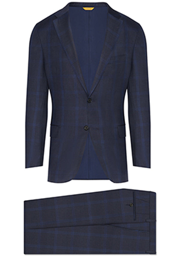 Navy Tonal Plaid Tasmanian Suit
