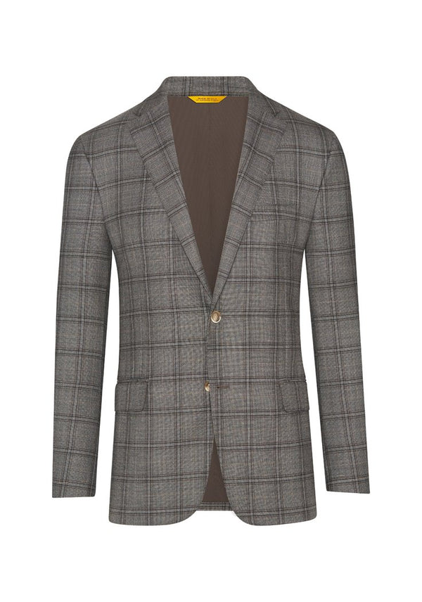 Grey Windowpane Plaid Jacket