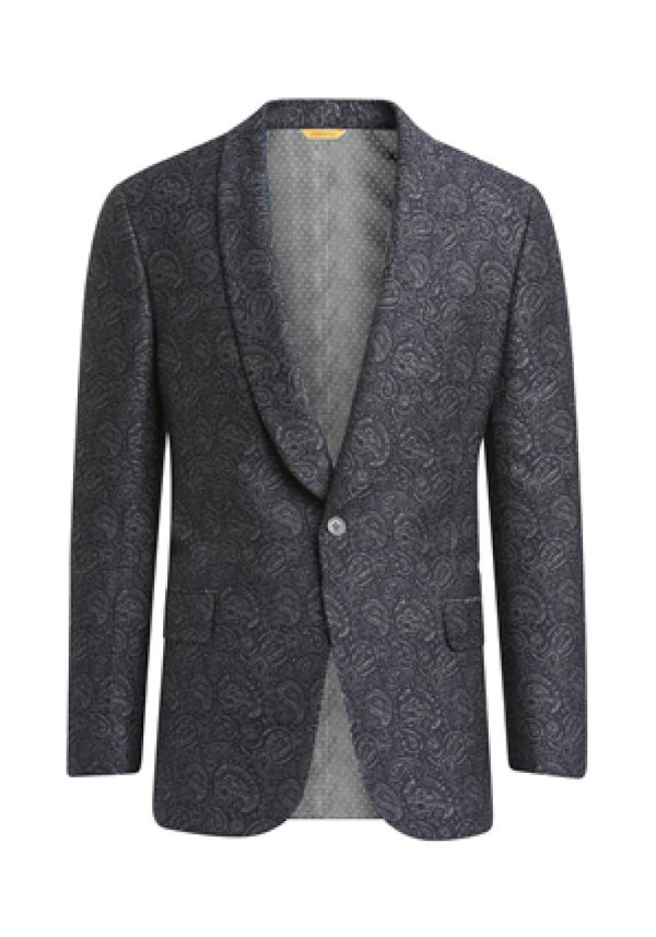 Navy Paisley Jacquard Dinner Jacket