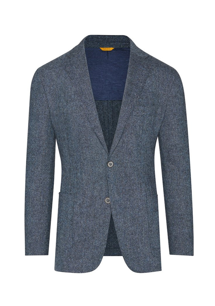 Blue Stretch Donegal Tweed Jacket