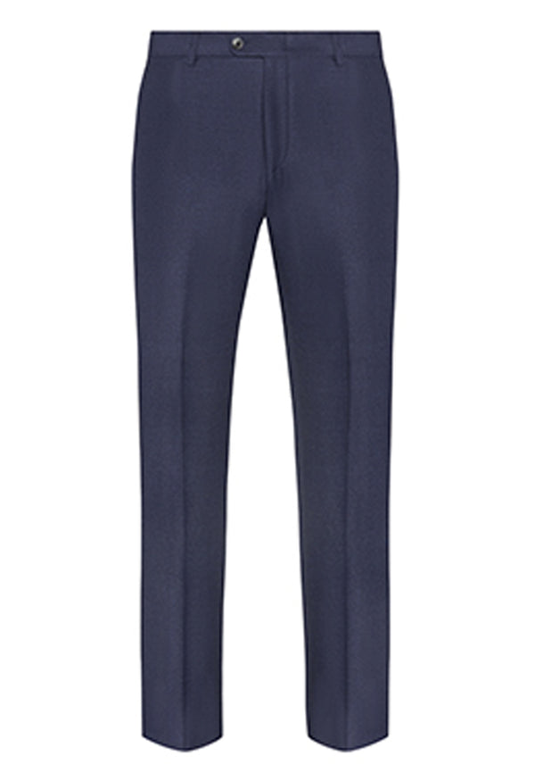 Blue Flannel Silk Tasmanian Trousers