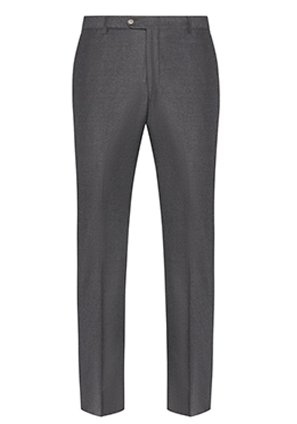 Charcoal Flannel Silk Tasmanian Trousers