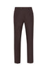 Burgundy Texture Soft Luxe Sable Trousers