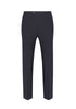 Slate Blue Texture Soft Luxe Sable Trousers