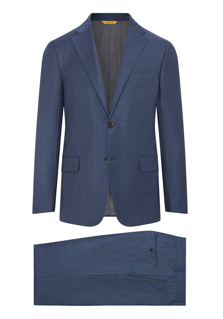 Hickey Freeman Slate Blue Honeyway Suit: H Fit